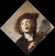 a boy with a violin, Frans Hals