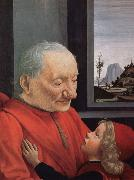 An old man with a boy's portrait, GHIRLANDAIO, Domenico