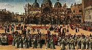 Procession of the True Cross in Piazza San Marco, Gentile Bellini