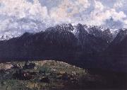 Gustave Courbet Panoramic View of the Alps oil painting reproduction