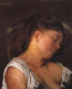 Gustave Courbet Sleeping woman oil painting reproduction