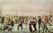 Hendrick Avercamp Fun on the ice oil painting reproduction