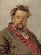 Ilia Efimovich Repin Mussorgsky portrait oil painting reproduction
