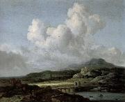 Jacob van Ruisdael The sun appears oil painting reproduction