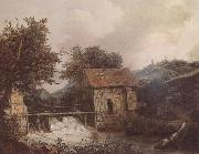 Jacob van Ruisdael Two Watermills oil painting reproduction