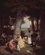 Jacques-Laurent Agasse An Agasse painting oil painting on canvas