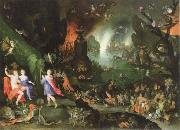 Jan Brueghel The Elder orpheus in the underworld oil painting on canvas