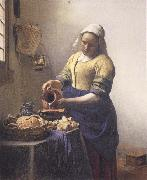 JanVermeer The Kitchen Maid oil painting on canvas