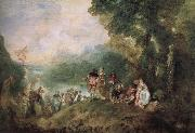 The base Shirra island goes on a pilgrimage, Jean antoine Watteau