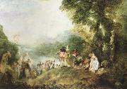 the pilgrimage to cythera, Jean-Antoine Watteau