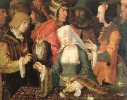 Lucas van Leyden the fortune teller oil painting artist