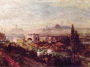 Oswald achenbach View over Florence oil painting