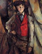 Boy in a Red Vest, Paul Cezanne