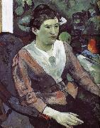 Cezanne s still life paintings in the background of portraits of women, Paul Gauguin
