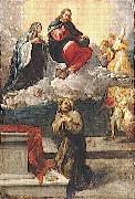 Pietro Faccini Christ and the Virgin Mary appear before St. Francis of Assisi oil painting