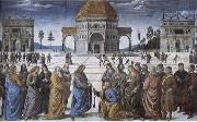 Christian kingdom of heaven will be the key to St. Peter's, Pietro Perugino