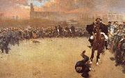 Ramon Casas i Carbo The Charge or Barcelona 1902 oil painting