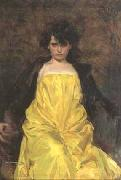 Ramon Casas i Carbo portrait of Julia Peraire oil painting