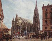 Rudolf von Alt View of Stephansdom oil painting