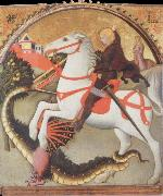 SANO di Pietro St.George and the Dragon oil painting
