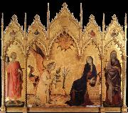 Simone Martini The annunciation with Two Saints oil painting reproduction
