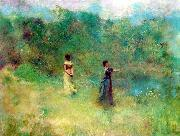 Thomas Dewing Summer oil painting