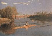 Thomas Eakins max schmitt in a single scull oil painting reproduction