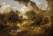 Thomas Gainsborough Landscape in Suffolk oil painting reproduction