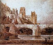 Thomas Girtin durham cathedral and bridge oil painting reproduction