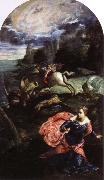 st.george and the dragon, Tintoretto