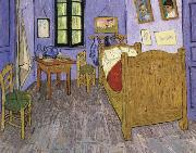 the bedroom at arles, Vincent Van Gogh