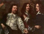 William Dobson The Painter with Sir Charles Cottrell and Sir Balthasar Gerbier by William Dobson oil painting