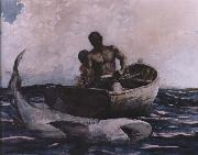 Winslow Homer shark fishing oil painting reproduction