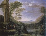 claude lorraine landscape with ascanius shooting the stag of sylvia oil painting reproduction