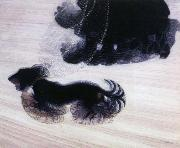 giacomo balla dynamism of a dog on a leash oil painting reproduction