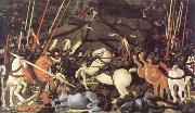 paolo uccello the battle of san romano oil painting