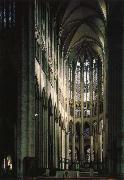 unknow artist Beauvais Cathedral, part of the choir oil painting reproduction