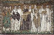 unknow artist Justinian, Bishop Maximilian Annus and entourage oil painting reproduction