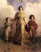 Abbott Handerson Thayer A Virgin oil painting reproduction