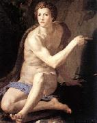 Agnolo Bronzino St John the Baptist oil painting