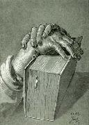 Hand Study with Bible - Drawing, Albrecht Durer