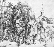 Five Lansquenets and an Oriental on Horseback, Albrecht Durer