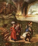 Lot Fleeing with his Daughters from Sodom