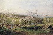 Alexei Savrasov Rustic View oil painting reproduction