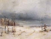 Alexei Savrasov Winter oil painting reproduction