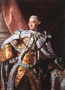 Allan Ramsay Portrait of George III, circa 1762. oil painting on canvas