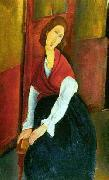 Jeanne Hebuterne in Red Shawl, Amedeo Modigliani