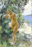 After the Bath,, Anders Zorn