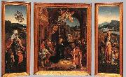 BEER, Jan de Triptych oil painting reproduction