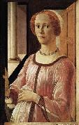 BOTTICELLI, Sandro Portrait of a Lady oil painting reproduction
